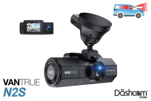 Vantrue N2S 2K Dual Lens Dash Cam | for Front + Inside Video and Audio Recording