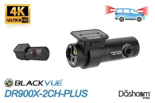 BlackVue DR900X-2CH-PLUS Dual Lens 4K Dash Cam   Front + Rear Cameras - Brand New For Sale at The Dashcam Store