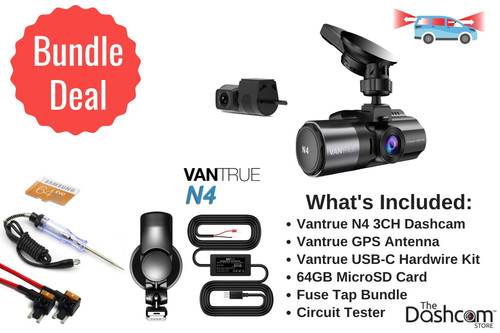 Vantrue N4 3-Channel DIY Dash Cam Bundle | For Sale At The Dashcam Store