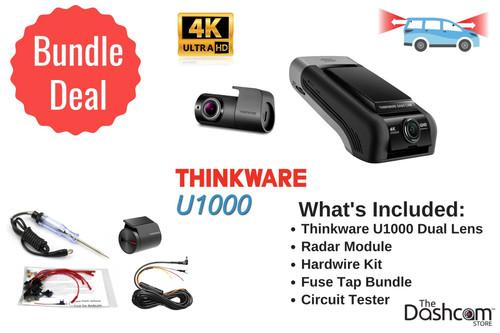 Thinkware U1000 Dual Lens DIY Dash Cam Bundle | For Sale Now At The Dashcam Store