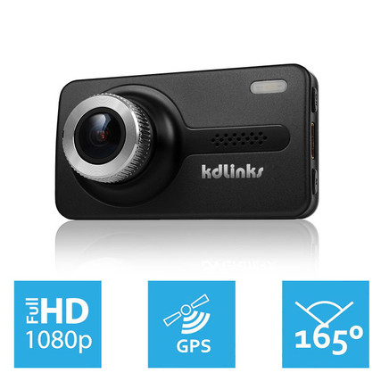 KDLinks X1 Dash Cam with Full HD 1080p video, GPS logging, super-wide angle, and more
