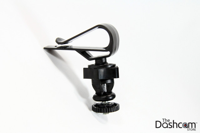 Visor mount for dashcams with threaded mounts | clips on to your sun visor propped top view