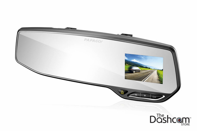 PAPAGO! GoSafe 268 Rear View Mirror Style Single Lens 1080p Dash Cam with Support for 64gb Memory Cards