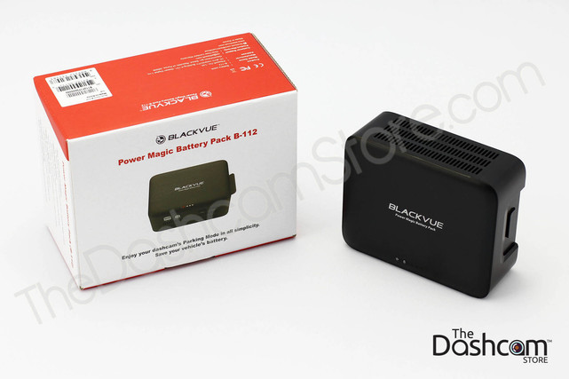 BlackVue B-112 Power Magic Battery Pack for Dash Cams and other accessories | Retail Packaging