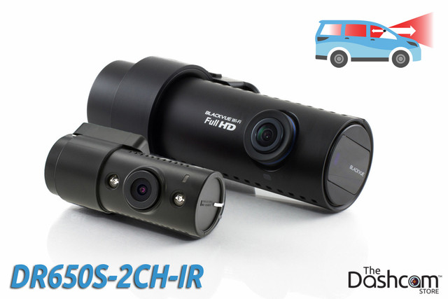 BlackVue DR650S-2CH-IR 1080p Cloud-capable dual lens dash cam | For front and inside recording