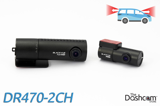 BlackVue DR470-2CH 1080p HD dual-lens GPS-ready dash cam | For front and rear audio and video recording
