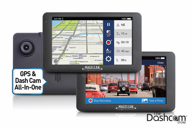 Magellan RoadMate 6630T-LM GPS Navigation (with Traffic) plus 1080p Video Dashcam All-in-one Combo