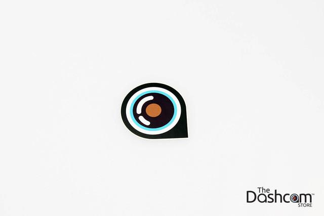 The Dashcam Store™ Eye Lens Logo Sticker | Dashcam Owners Club