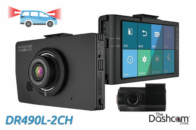 BlackVue DR490L-2CH 1080p Full HD dual-lens dual-1080p dash cam with touchscreen display | For Front and Rear Recording