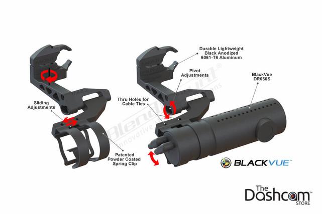 BlendMount BlackVue Dashcam Mirror Stem Mount | Speciality Mount Component Diagram