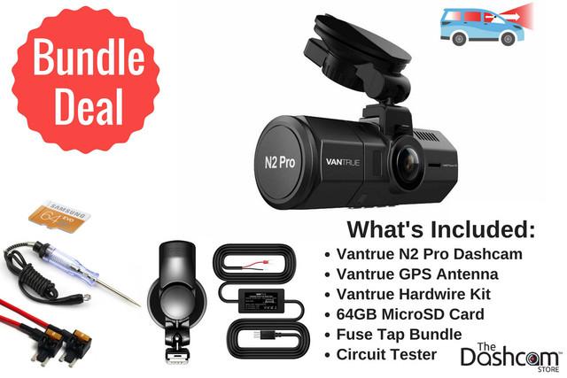 Vantrue N2 Pro Dual Lens 1080p Dashcam Install Bundle | Vantrue 2CH Bundle Products