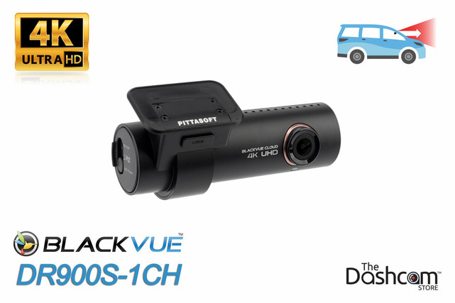 BlackVue DR900S-1CH 4K Single Lens GPS WiFi & Cloud-Capable Premium Dashcam