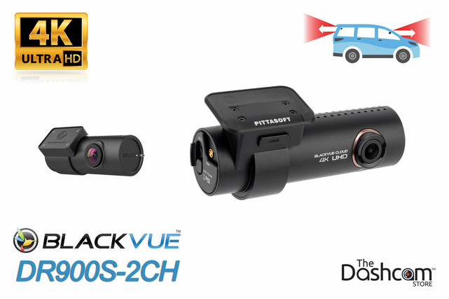 BlackVue DR900S-2CH Dual Lens 4K GPS WiFi Dashcam for Front and Rear   For Sale