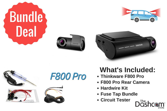 Thinkware F800 Pro 2CH Dashcam DIY Install Bundle | Bundle Components