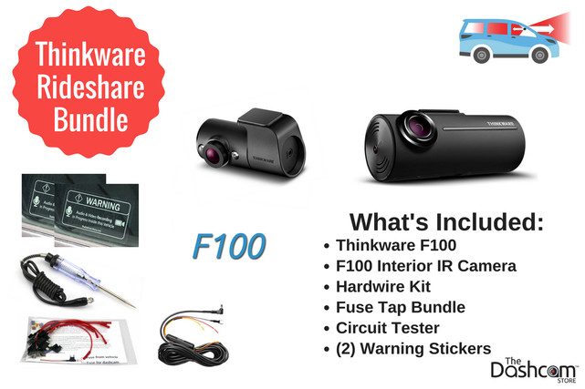 Thinkware Rideshare Bundle   Front and Interior Recording System   High-Temp Protection, Loop Recording