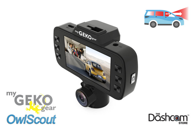 GEKO OwlScout All-In-One Night Vision Dual Lens Dashcam | For Sale at The Dashcam Store