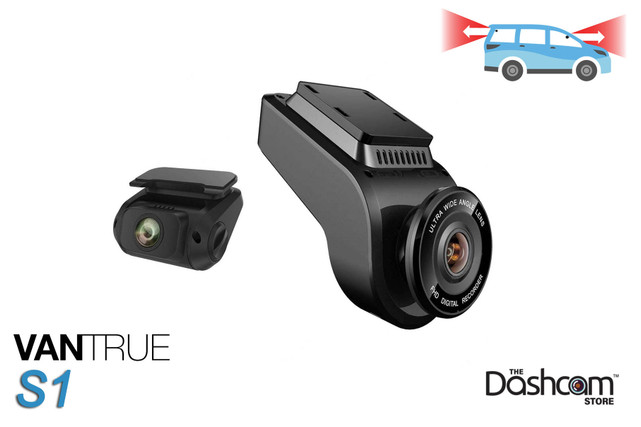 Vantrue S1 Dual Lens 1080p Dash Cam | for Front + Rear Video and Audio Recording
