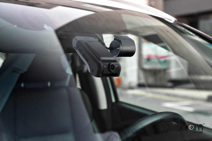 Thinkware U1000 Front and Rear-Facing Dash Cam | In-Car Example Image