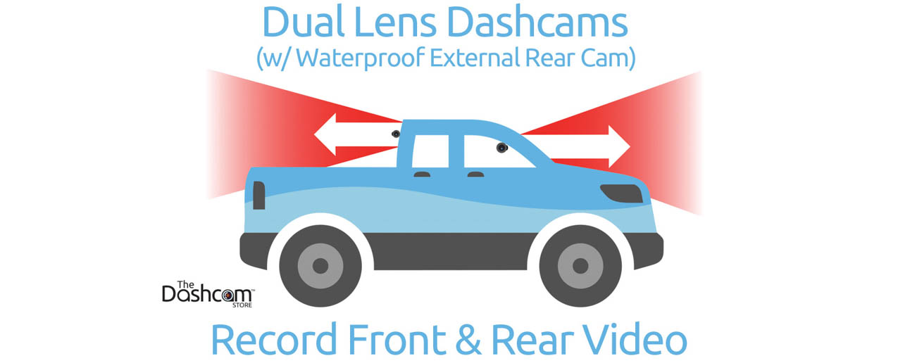 BlackVue DR650GW-2CH-Truck-IR 1080p Dual-Lens WiFi Dashcam w/ Waterproof  Rear Lens
