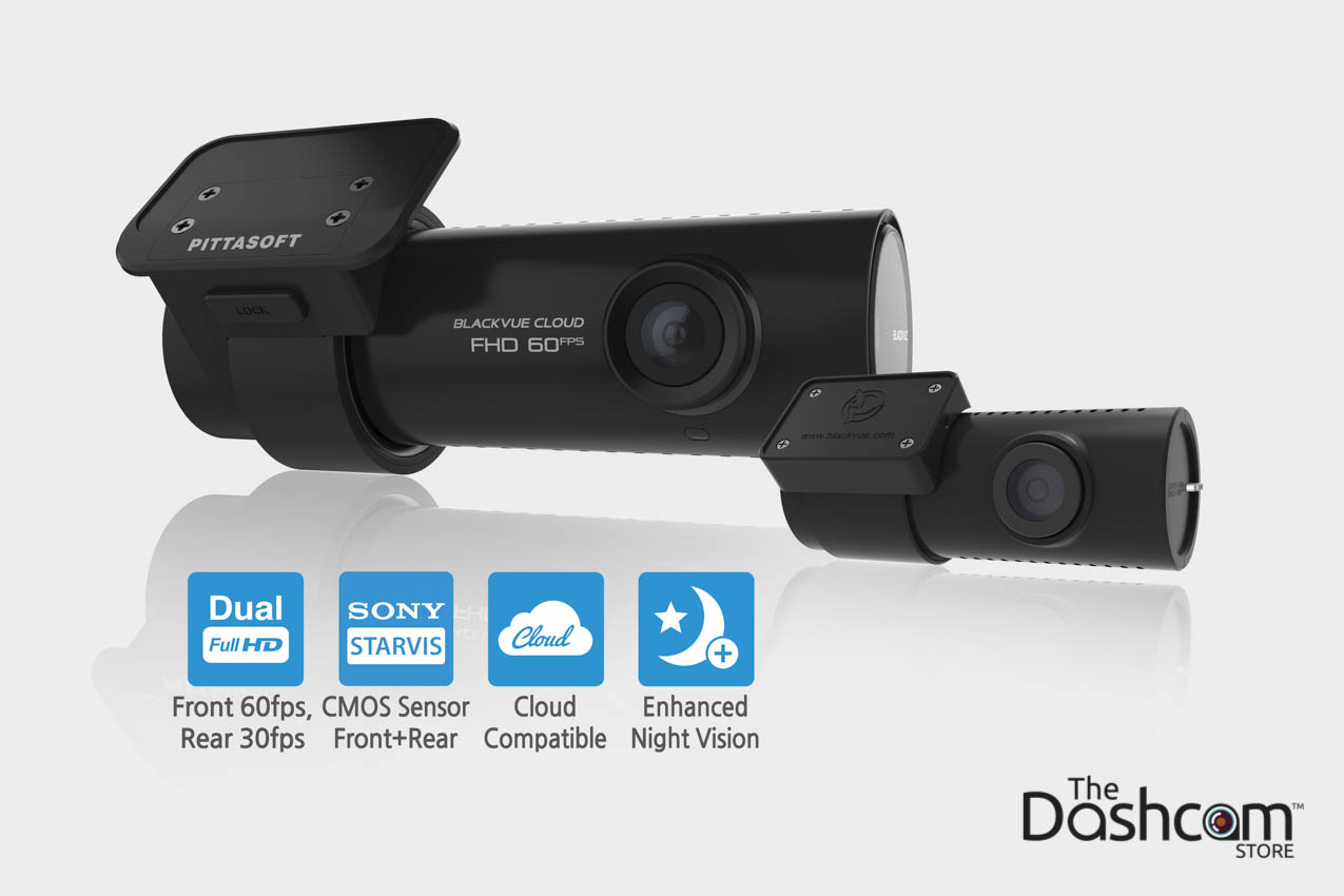 BlackVue DR750S-2CH Dual-Lens Dual 1080p GPS WiFi Dashcam for Front and Rear