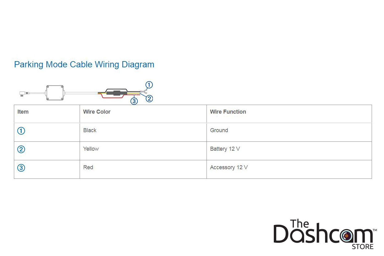 Garmin Parking Mode Kit | MicroUSB Direct-Wire Power Cable on