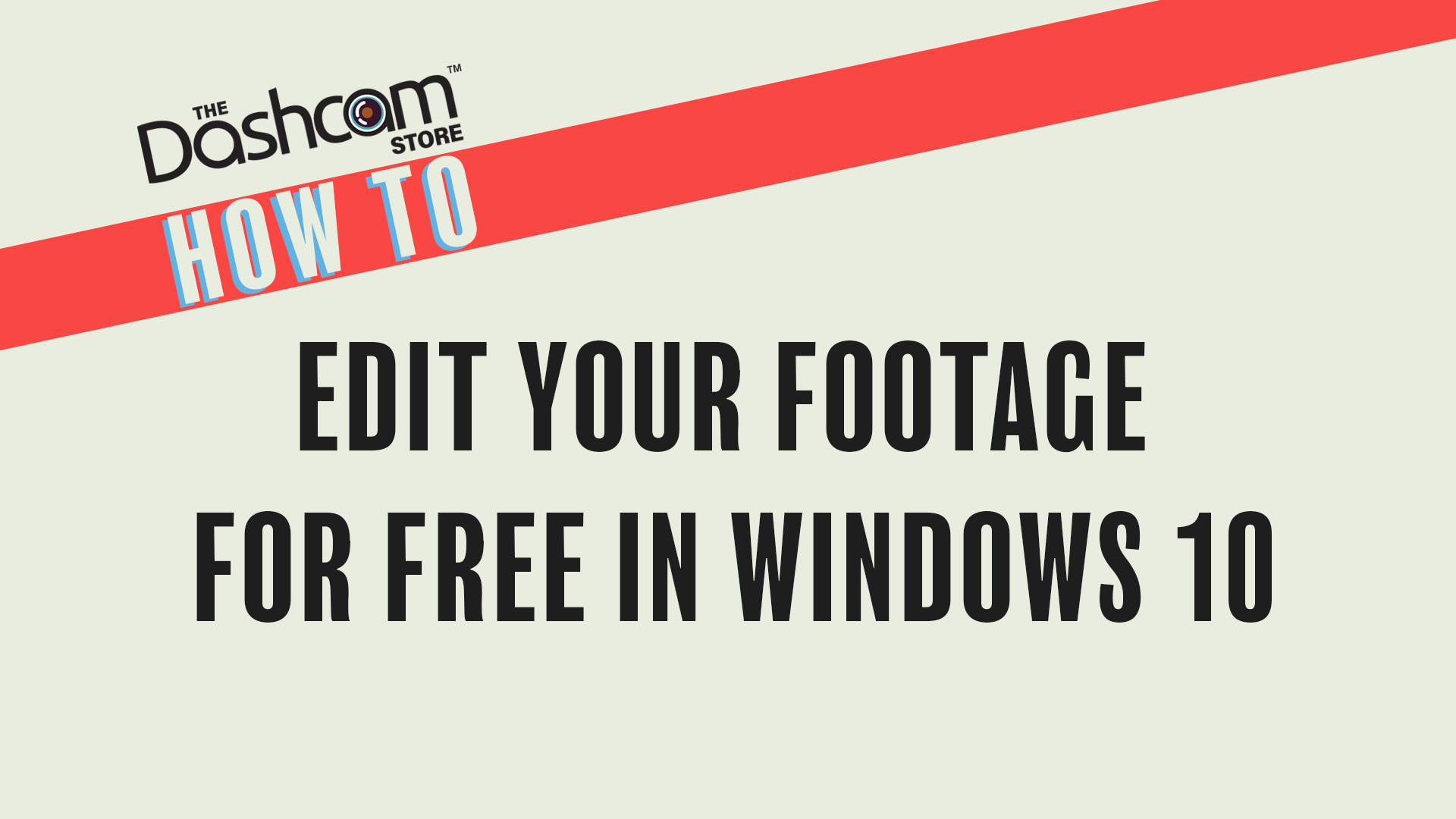 How To Edit Dashcam Footage on Windows 10 Using Free ...