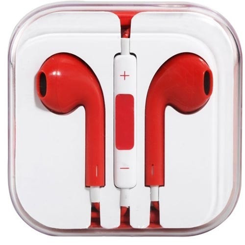 Mobile HD Earbuds - Red