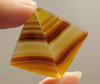 Brazilian Banded Agate Matched Pair Cabochons Gemstones #10