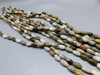 ONE Petrified Wood Bead Unstrung Strand Olive or Barrel Shaped #4