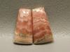 Cabochons Rhodochrosite Matched Pairs Pink Gemstone #20