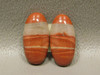 Red Jasper Matched Pairs White Striped Stone Cabochons #6