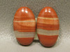 Orange Jasper Matched Pairs Jewelry Making Supplies Cabochons #14