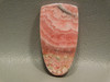 Pink Rhodochrosite Tongue shaped Stone Cabochon #14