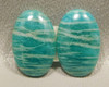 Amazonite Matched Pairs Cabochons Loose Small Stones #12