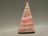 Pink Rhodochrosite Triangle Shaped Stone Cabochon #16