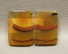 Rectangle Banded Agate Matched Pair Cabochons Gemstone #18