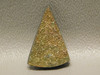 Sparkling Orange Yellow Rainbow Pyrite Stone Cabochon Triangle #17