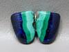 Azurite Malachite Blue Green Matched Pairs Cabochons Shields #32