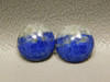 Cabochons Blue Stone Lapis Small 11 mm Round Matched Pairs #9