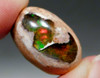 Gemstone Rainbow Iridescent Mexican Fire Opal Cabochon Stone #10