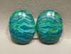 Chrysocolla Malachite Collector Stones Cabochons Bagdad #27