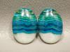 Chrysocolla Malachite Pairs Stones Blue Green White Cabochons #18