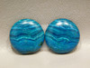 Chrysocolla Malachite Pairs Stones Blue 21 mm Round Cabochons #9