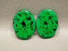 Maw Sit Sit Matched Pair Cabochons Ovals Rare Green Jade #21
