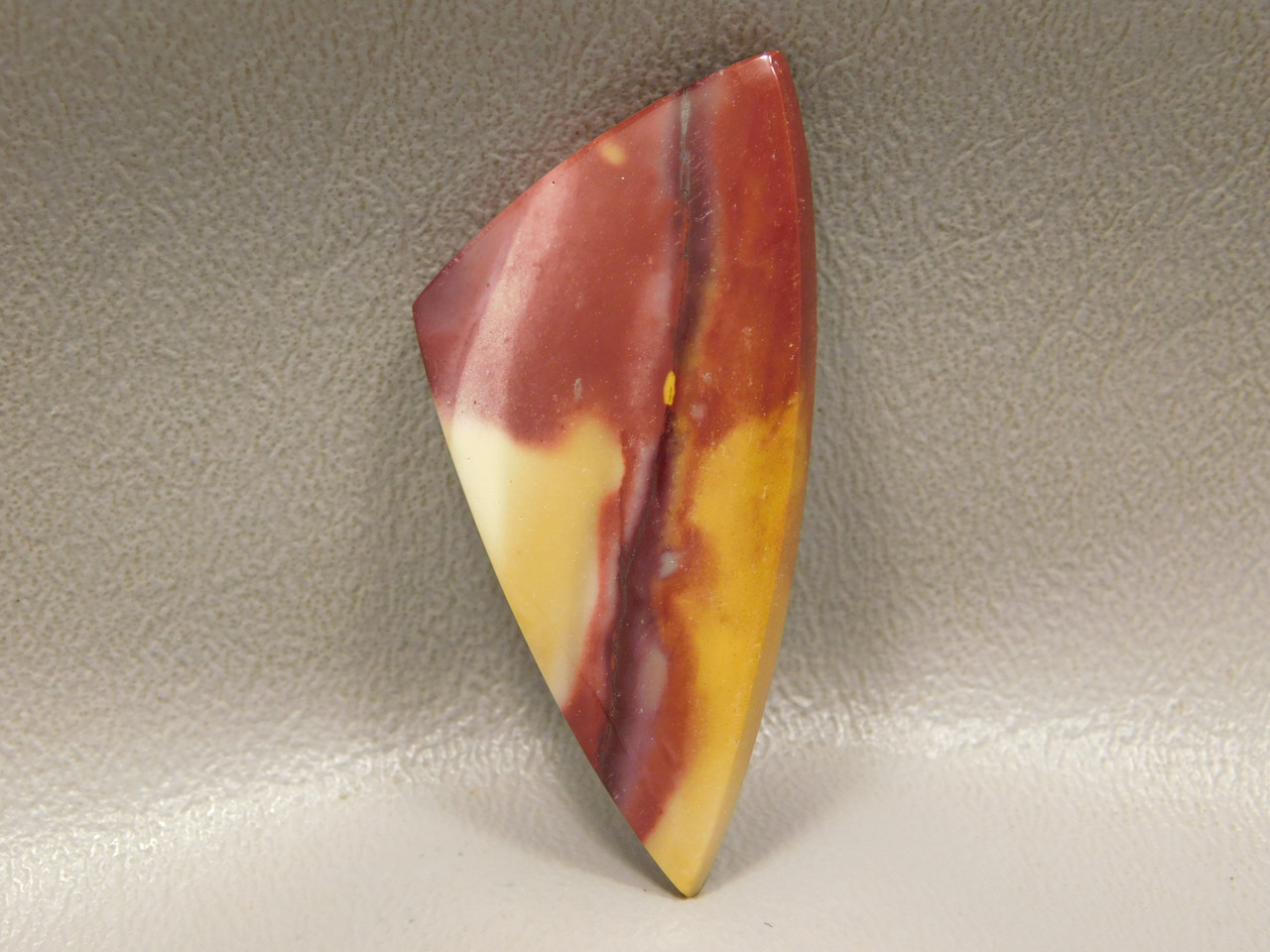 Mookaite Mook Jasper Red Yellow Triangle Gemstone #1