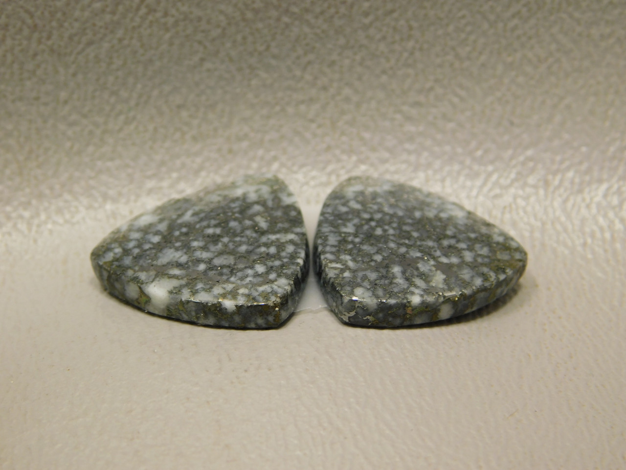 Mohawkite Stone Matched Pair For Earrings Cabochons Gold Silver #7