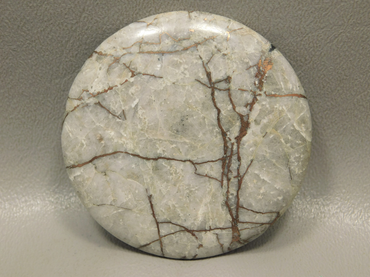 Native Copper 56 mm Round Designer Gemstone Cabochon #3
