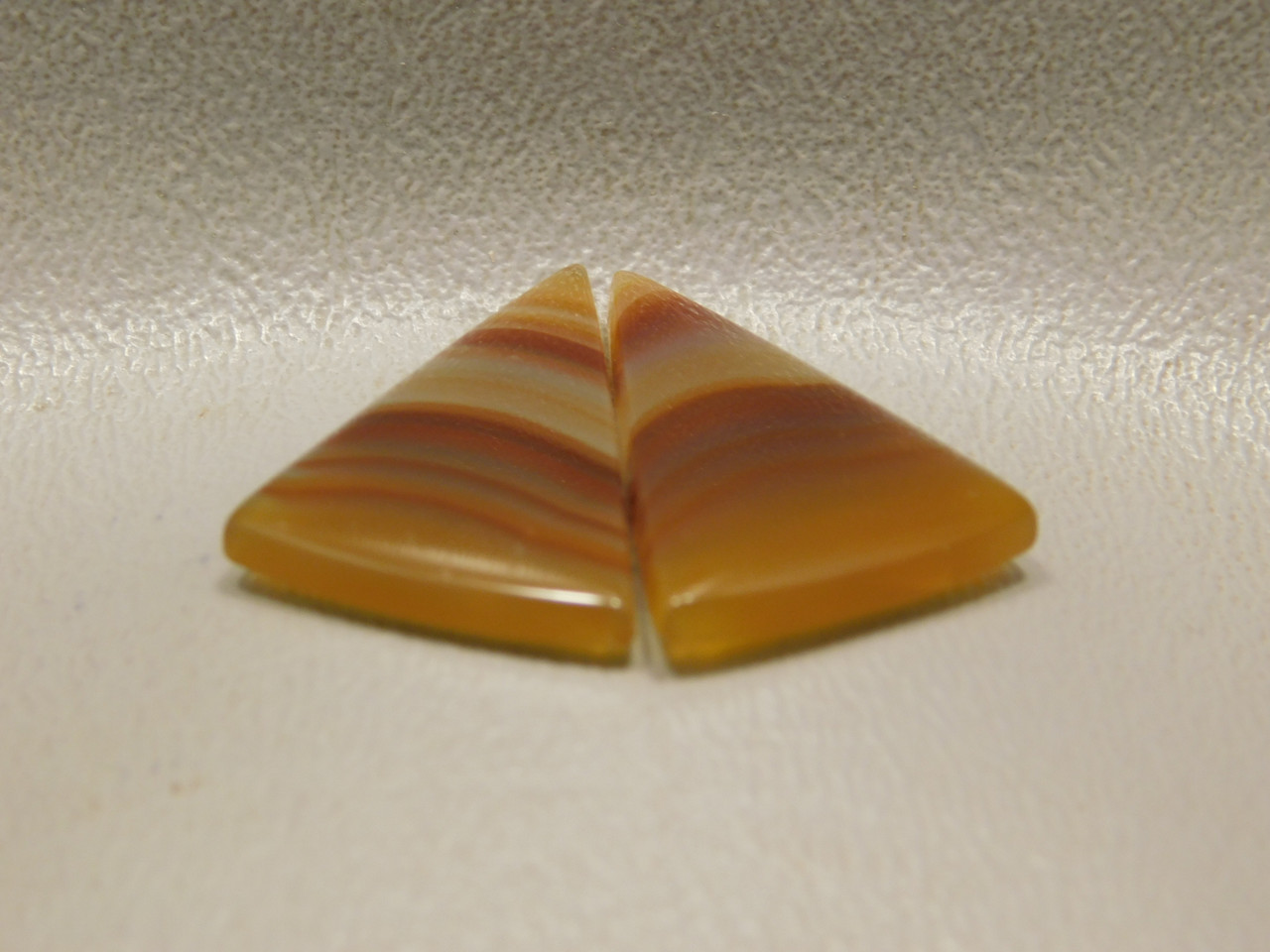Brazilian Agate Matched Pair Cabochons Stones Triangles #16
