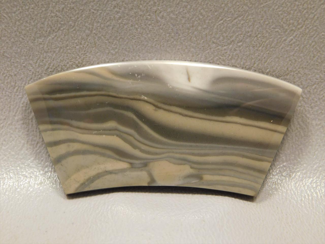 Polish Flint Stone Curved Bar Semi Precious Designer Cabochon #14