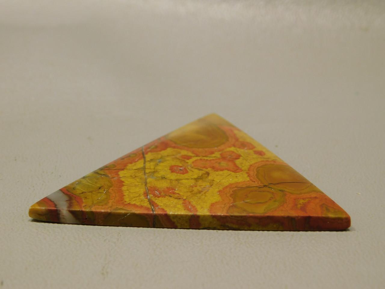 Morgan Hill Poppy Jasper Triangle Cabochon Jewelry Design #9